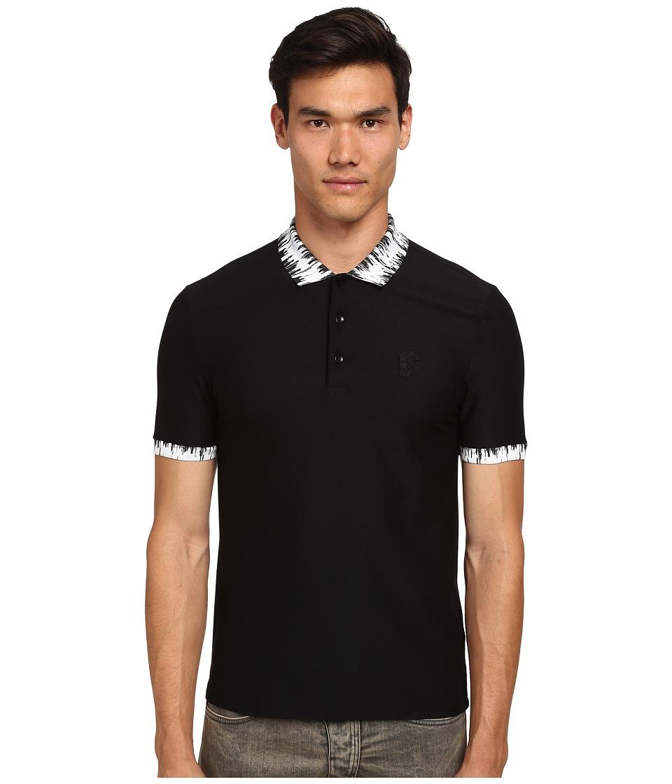 Versace Collection - Dripping Collar Polo (White/Black) Men
