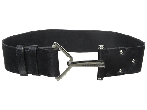 Vince Camuto - 2 Adjustable Veg Panel with Hook Closure Belt (Black) Women's Belts