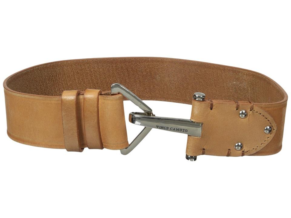 Vince Camuto - 2 Adjustable Veg Panel with Hook Closure Belt (Natural) Women