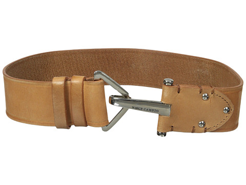 Vince Camuto - 2 Adjustable Veg Panel with Hook Closure Belt (Natural) Women