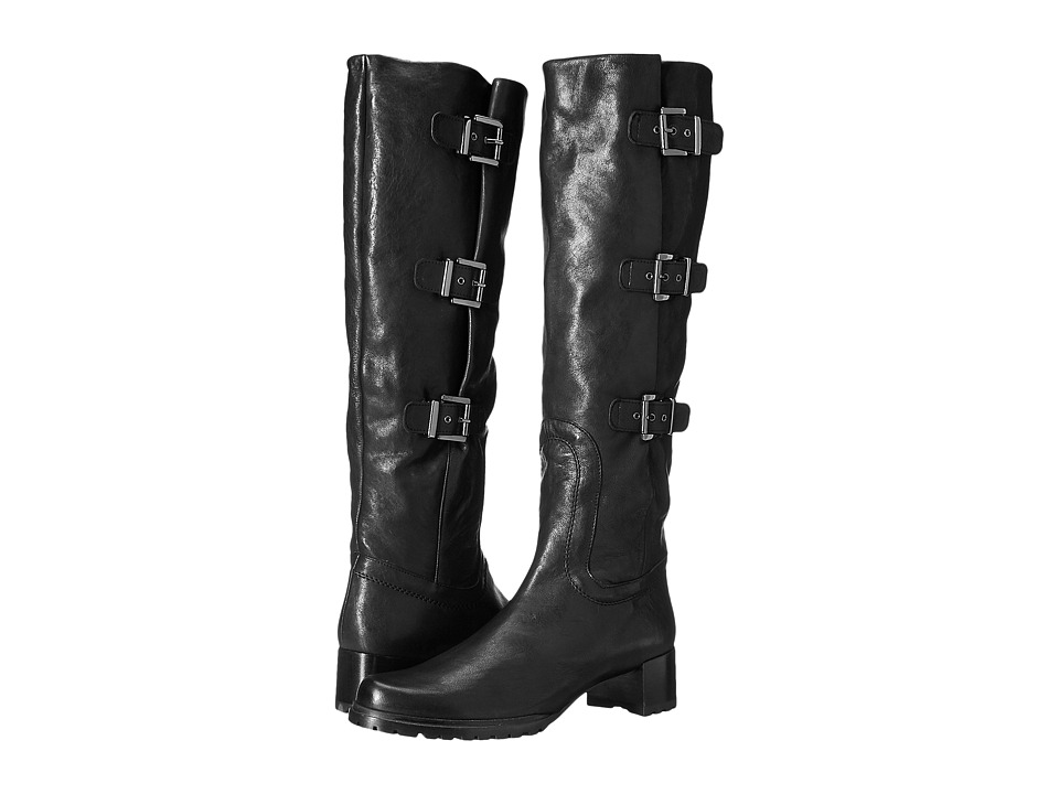 Stuart Weitzman Cinchboot (Black Vecchio Nappa) Women
