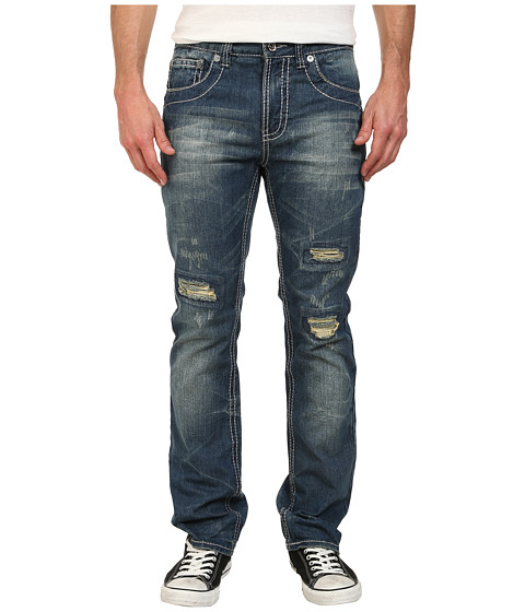 Antique Rivet - Derrick Straight Jeans in Monte (Monte) Men's Jeans
