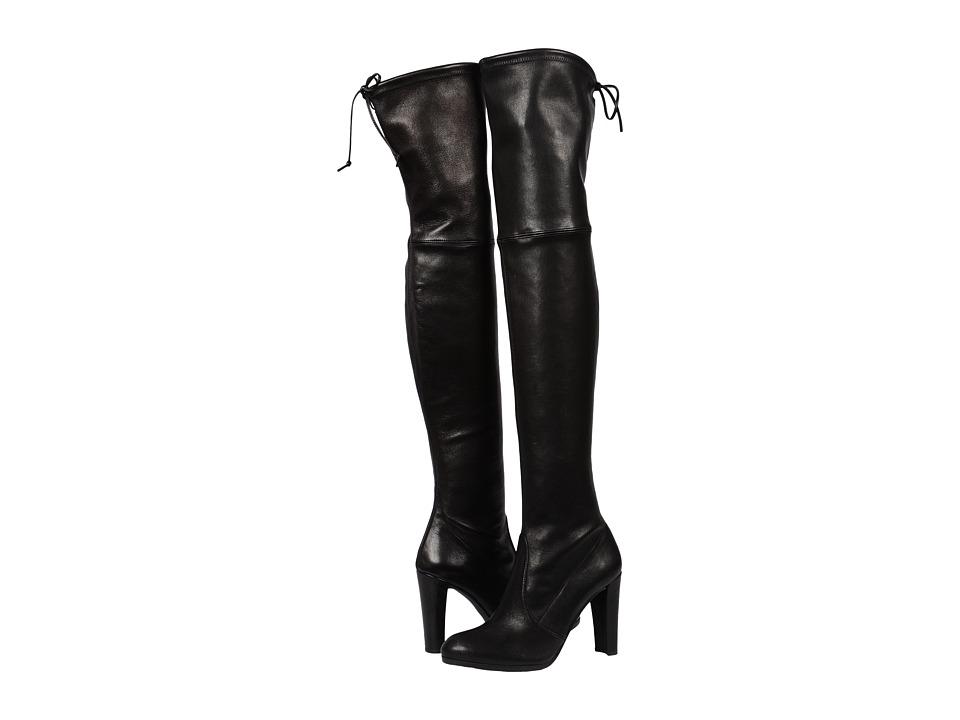 Stuart Weitzman - Highland (Nero Plonge) Women's Dress Pull-on Boots
