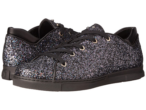 Stuart Weitzman - Pipedown (Black Holograph Glitter) Women's Lace up casual Shoes