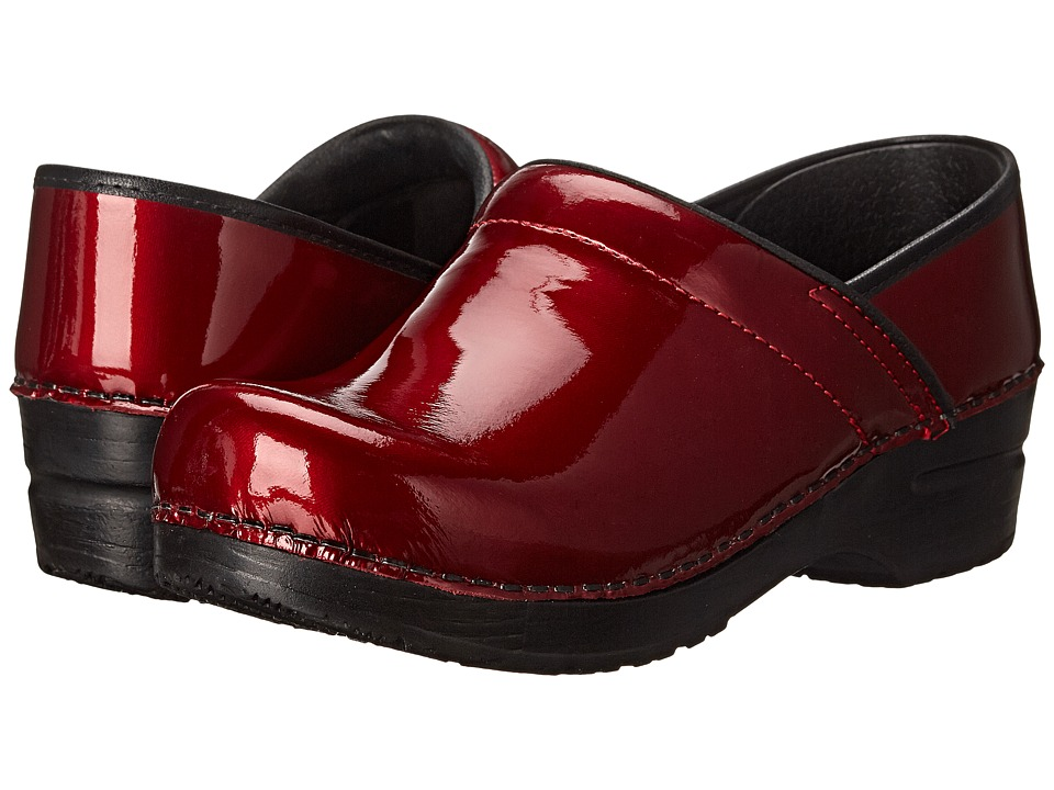 Sanita Glimmer (Red Metallic Patent) Women