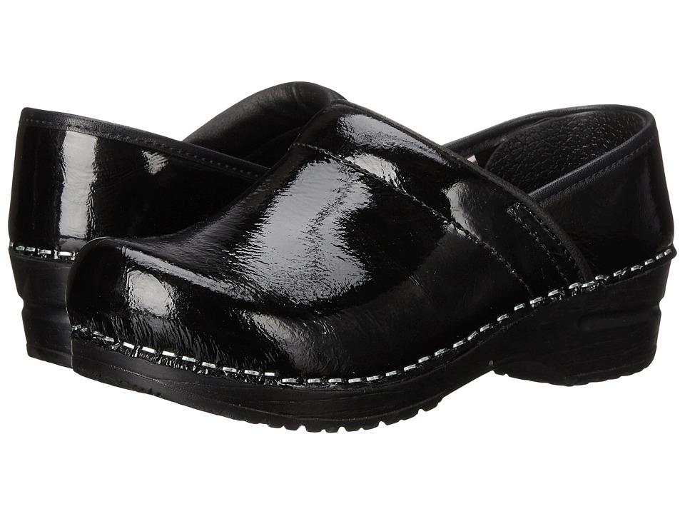 Sanita - Textured Patent (Black Printed Patent) Women's Shoes
