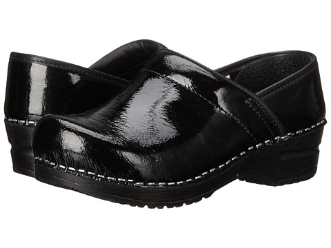 Sanita - Textured Patent (Black Printed Patent) Women's Shoes