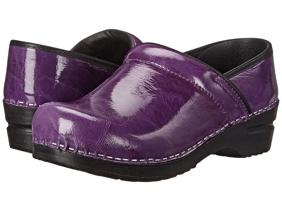 Sanita - Textured Patent (Purple Printed Patent) Women
