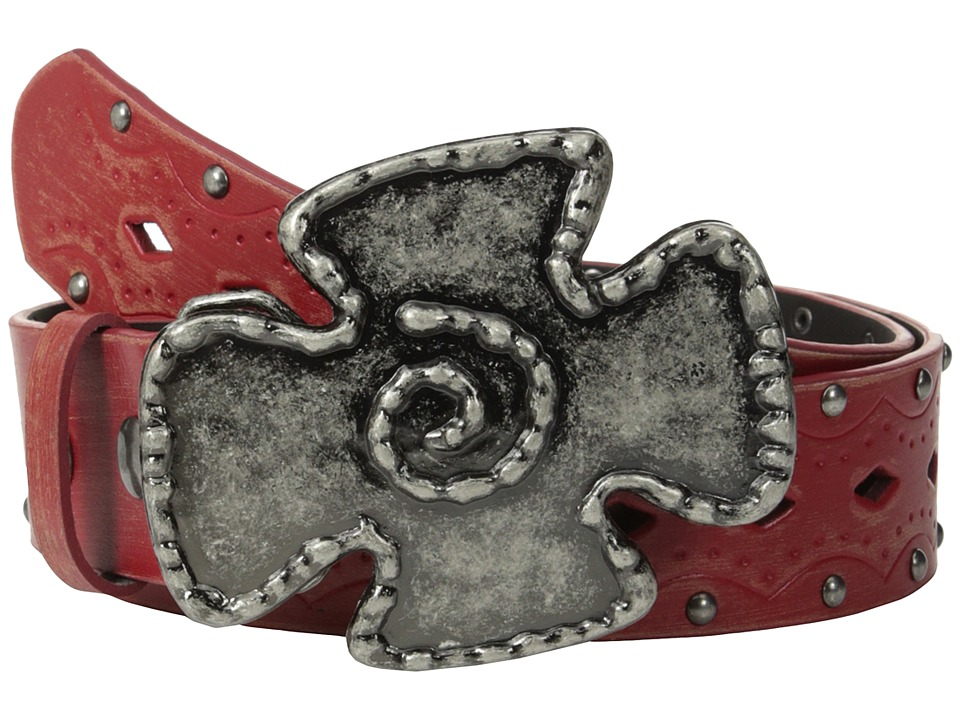 Aventura Clothing - Studded w/ Iron Cross Belt (Red) Women's Belts