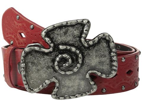 Aventura Clothing - Studded w/ Iron Cross Belt (Red) Women