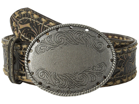 Aventura Clothing - Fleur-de-lis w/ Oval Flower Belt (Brown) Women's Belts