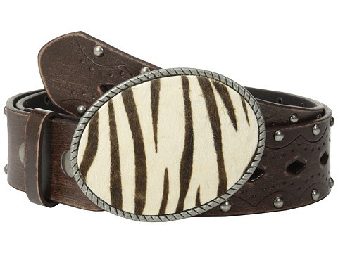 Aventura Clothing - Studded w/ Zebra Belt (Brown) Women's Belts