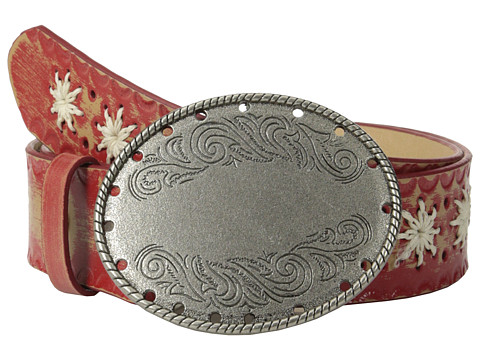 Aventura Clothing - Embossed Flower w/ Oval Flower Belt (Red) Women's Belts
