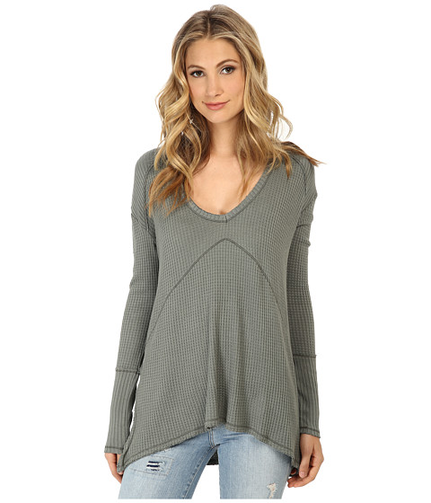 Free People - Sunset Park Top (Safari Green) Women's Long Sleeve Pullover