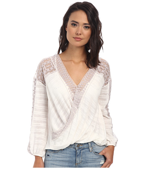 Free People - Valley City Top (Ivory) Women's Long Sleeve Pullover