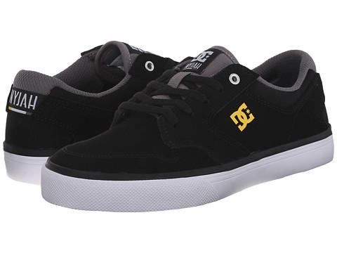 DC Kids - Nyjah Vulc NU (Big Kid) (Black/Yellow) Boys Shoes
