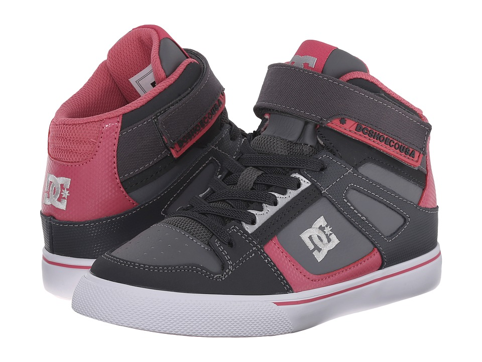DC Kids - Spartan High EV (Little Kid) (Grey/Pink) Girls Shoes