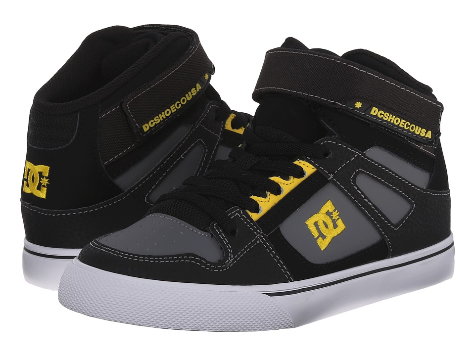 DC Kids - Spartan High EV (Little Kid) (Black/Yellow) Boys Shoes