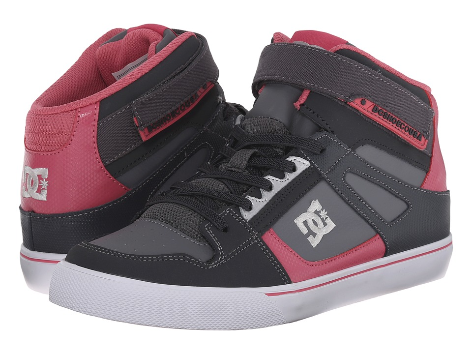 DC Kids - Spartan High EV (Big Kid) (Grey/Pink) Girls Shoes