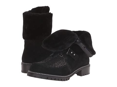 Stuart Weitzman - Viking (Black Sport Suede) Women's Lace-up Boots