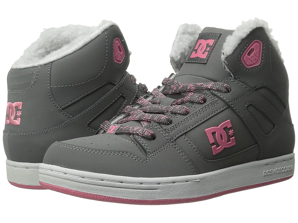 DC Kids - Rebound WNT (Big Kid) (Grey/Pink) Girls Shoes