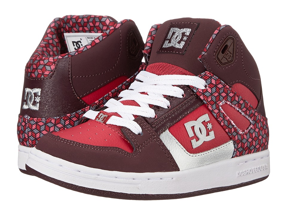 DC Kids - Rebound SE (Little Kid/Big Kid) (Deep Red) Girls Shoes