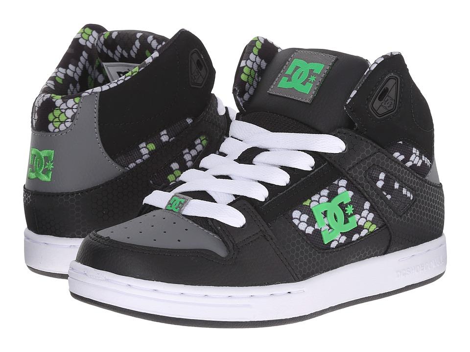 DC Kids - Rebound SE (Big Kid) (Black/Dark Grey Print) Boys Shoes
