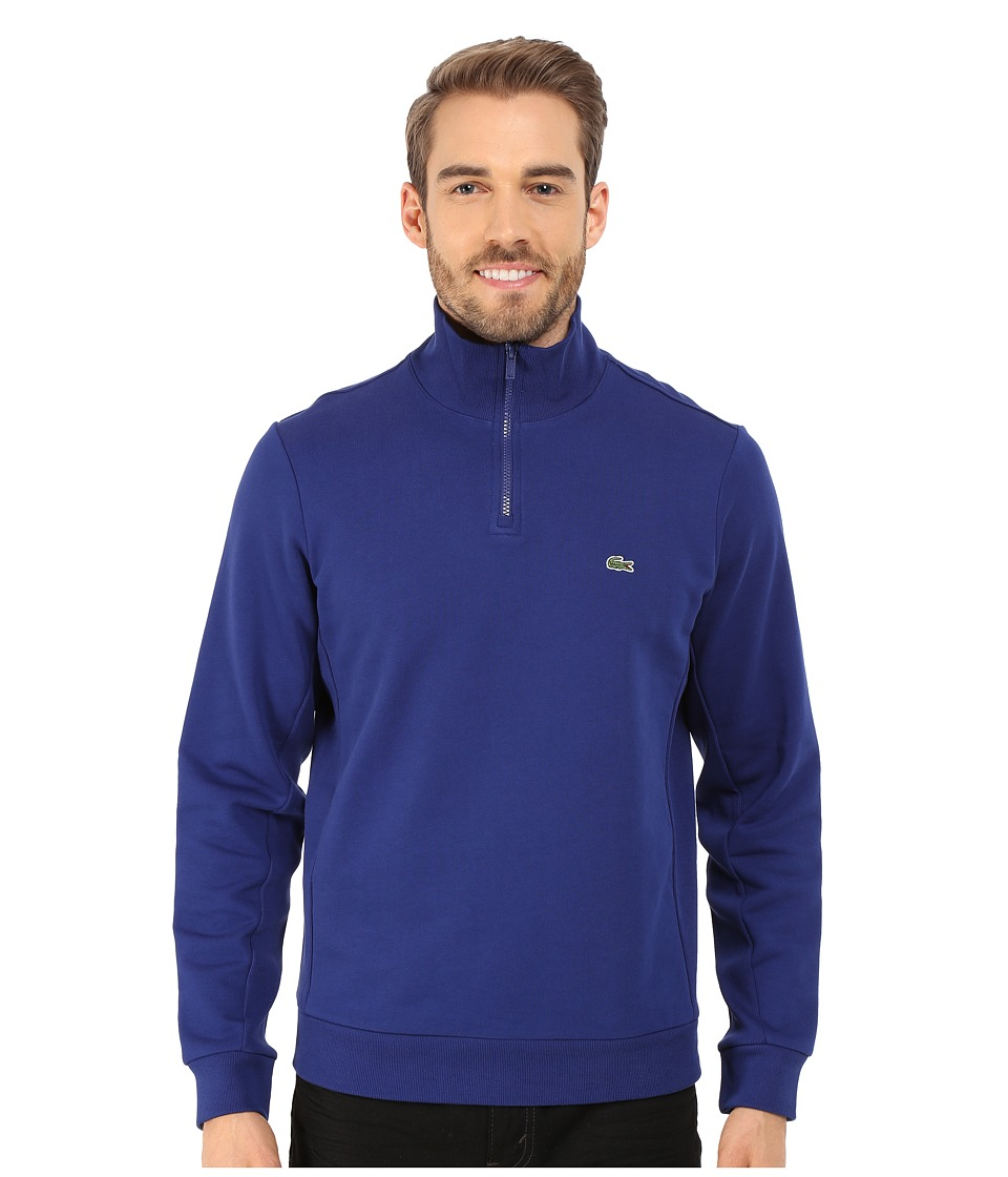 Lacoste - Light Weight Fleece 1/4 Zip Sweatshirt (Varsity Blue) Men's Sweatshirt