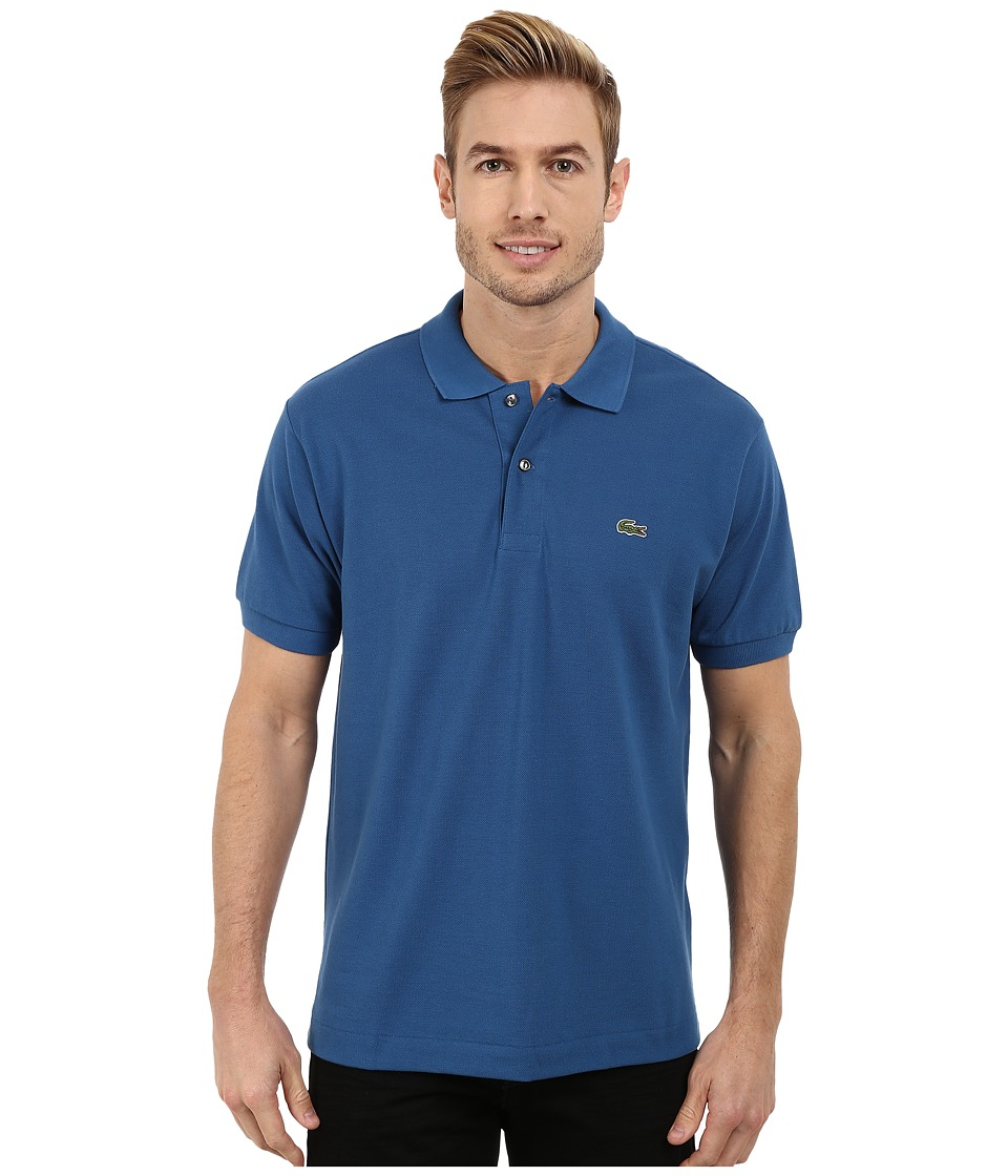 Lacoste - L1212 Classic Pique Polo Shirt (Officer Blue) Men's Short Sleeve Knit