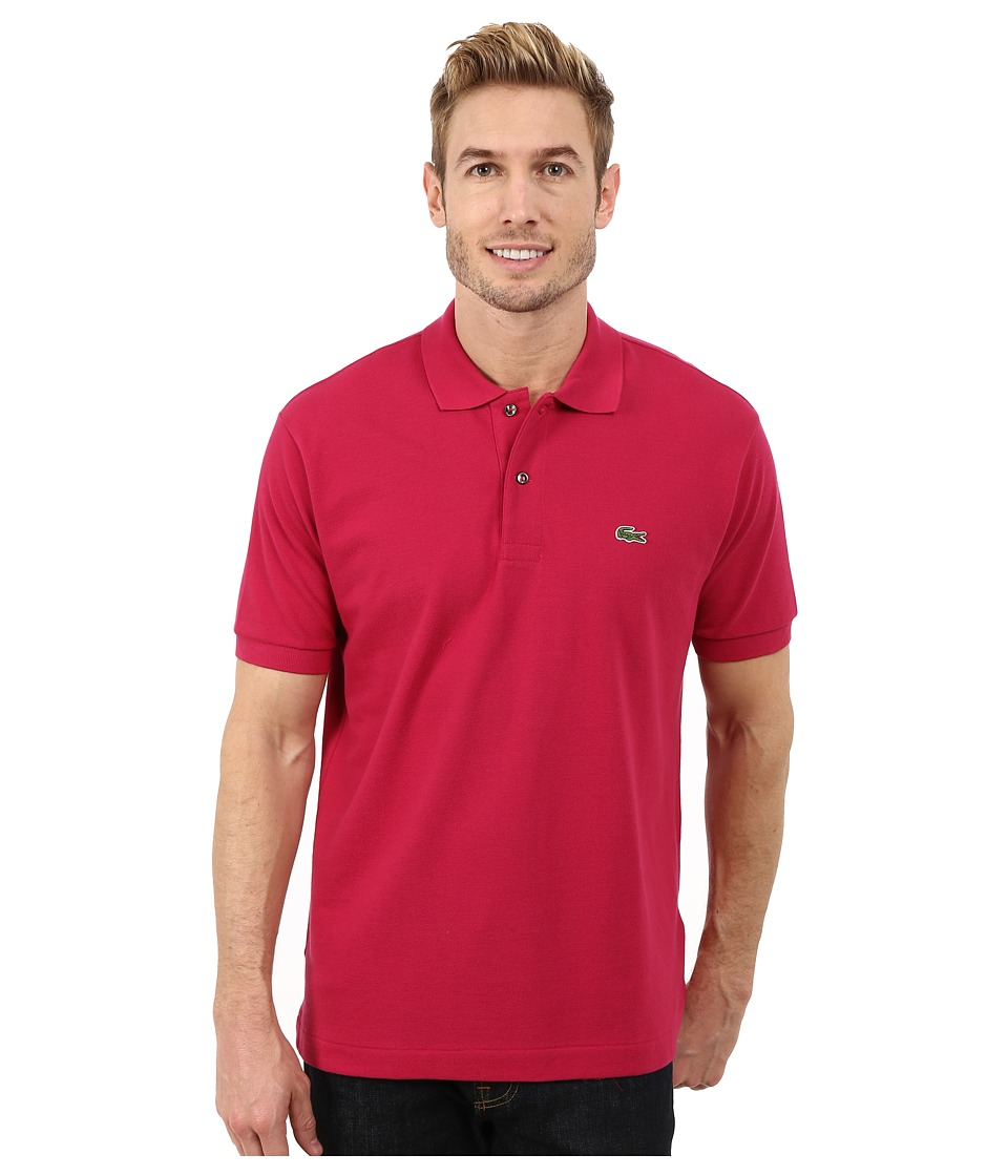 Lacoste - L1212 Classic Pique Polo Shirt (Fairground Pink) Men's Short Sleeve Knit
