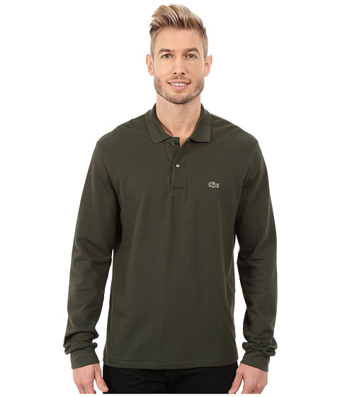 Lacoste - L/S Classic Pique Polo (Everglade Green) Men