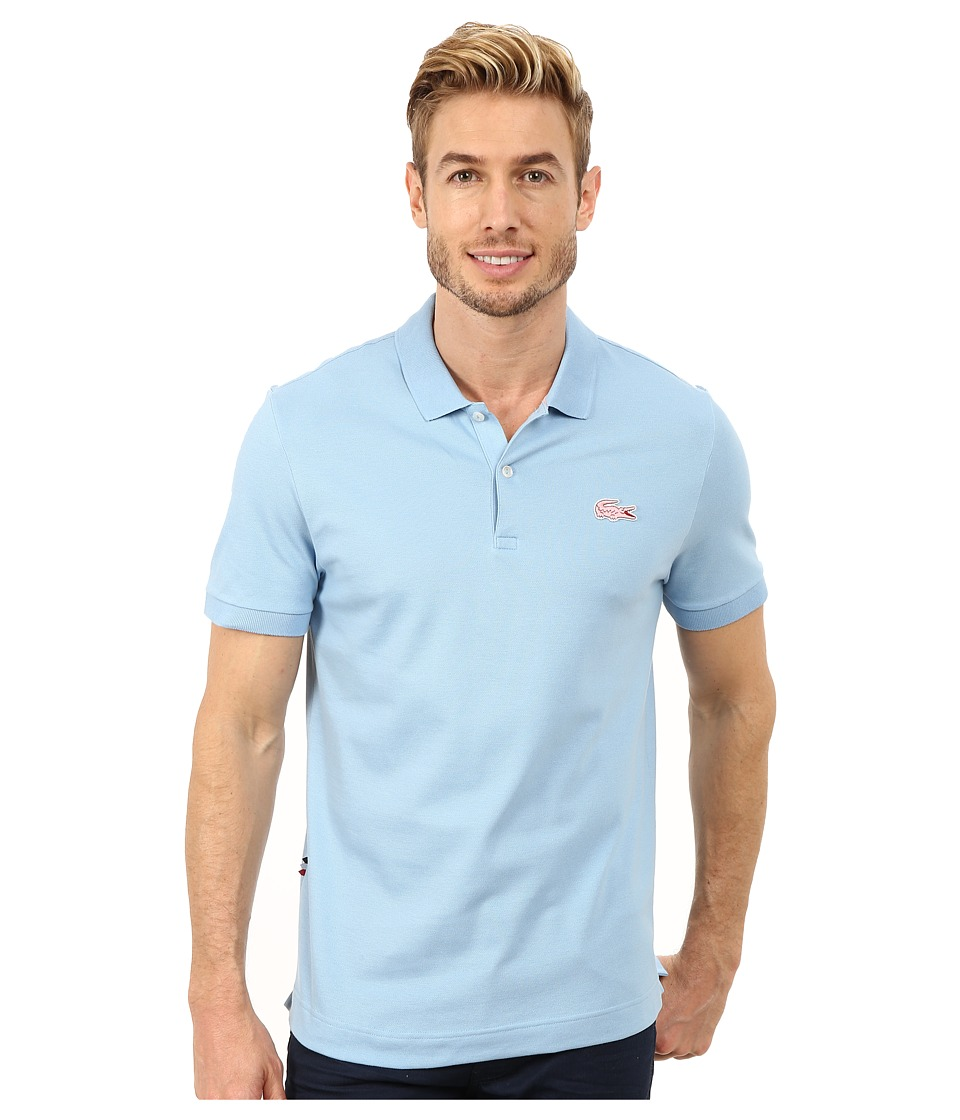 Lacoste - L!Ve Short Sleeve Stretch Pique Croc Polo (Catamaran/Lotus) Men's Short Sleeve Pullover