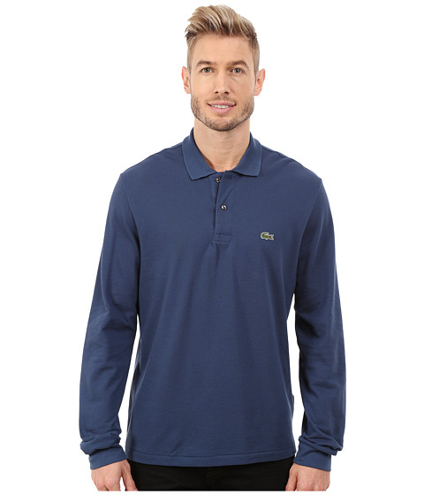 Lacoste - L/S Classic Pique Polo (Philippines Blue) Men