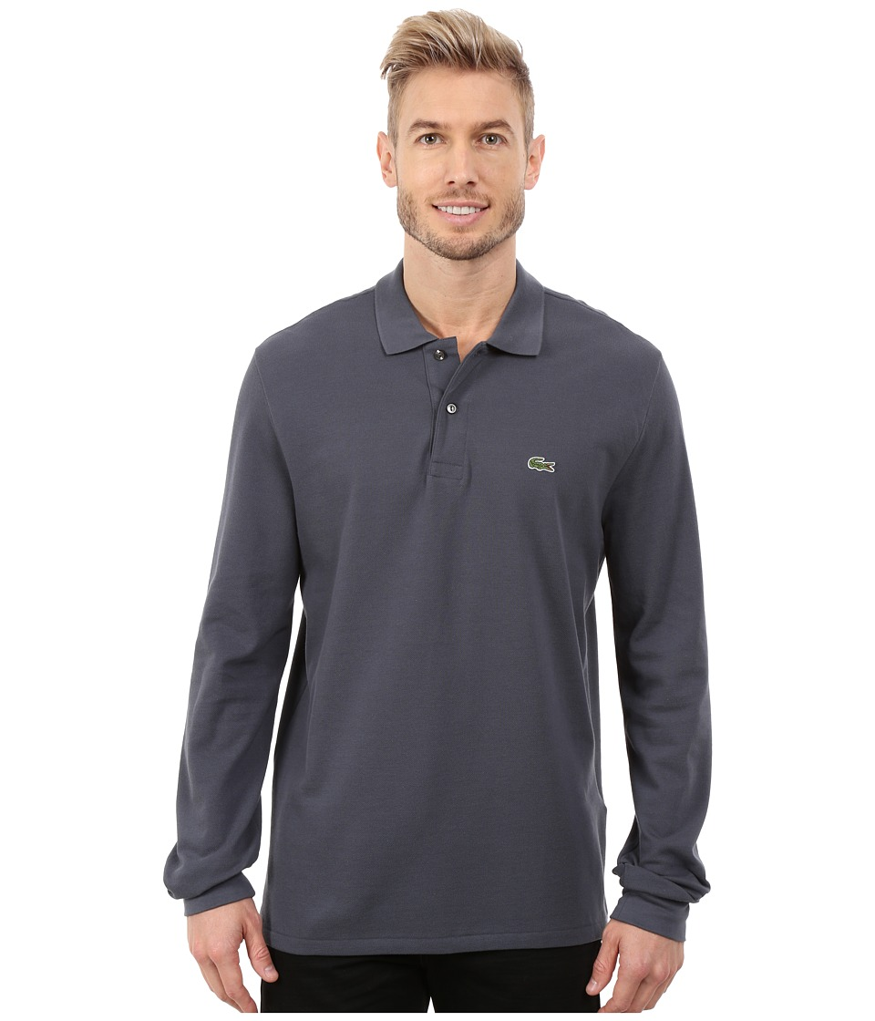 Lacoste - L/S Classic Pique Polo (Gravity) Men's Long Sleeve Pullover