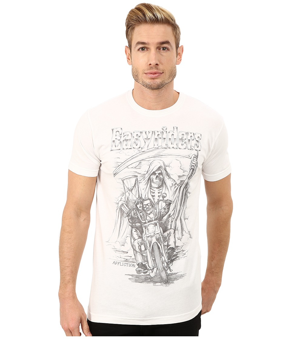 Affliction - Easyriders Father Time (Vintage White) Men's T Shirt