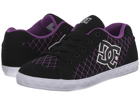 DC Kids - Chelsea Stud (Big Kid) (Black/Purple) Girls Shoes