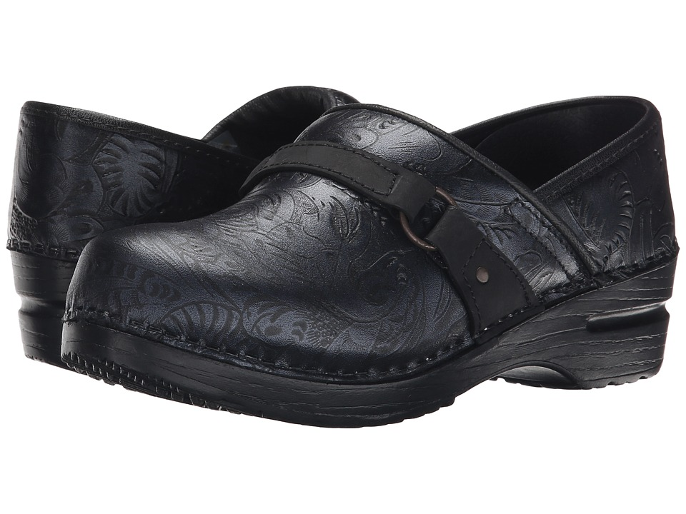 Sanita Texas (Black Printed Leather) Women