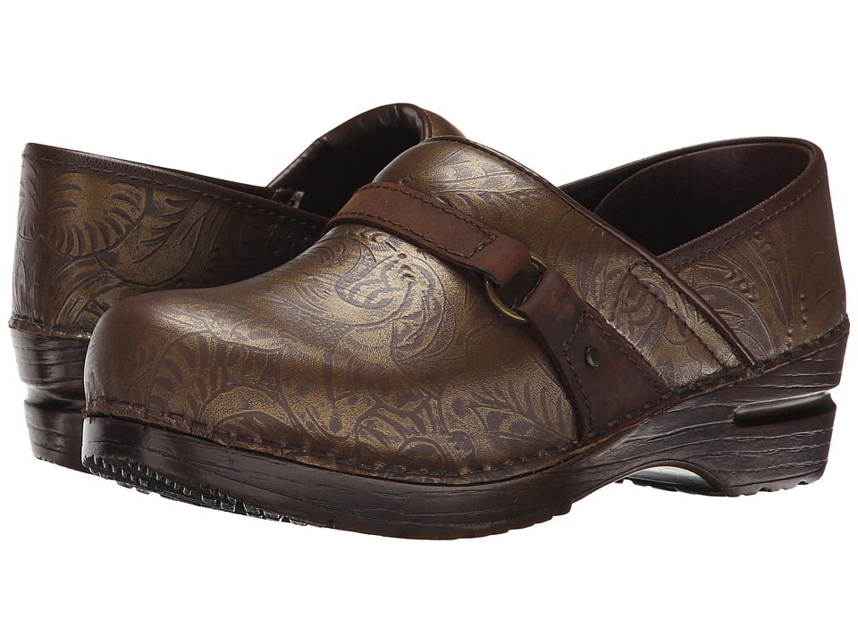 Sanita - Texas (Dark Brown Printed Leather) Women's Shoes