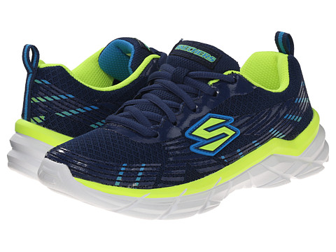 SKECHERS KIDS - Rive Seize (Little Kid/Big Kid) (Navy/Yellow) Boys Shoes