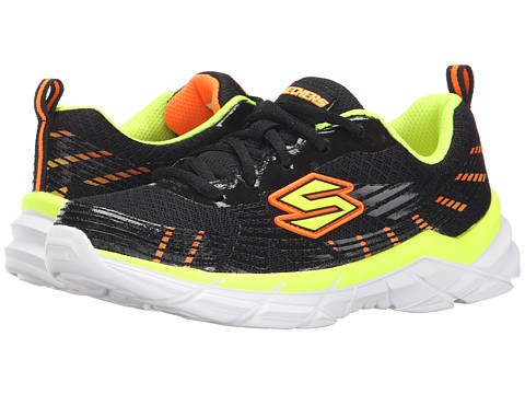 SKECHERS KIDS - Rive Seize (Little Kid/Big Kid) (Black/Yellow/Orange) Boys Shoes
