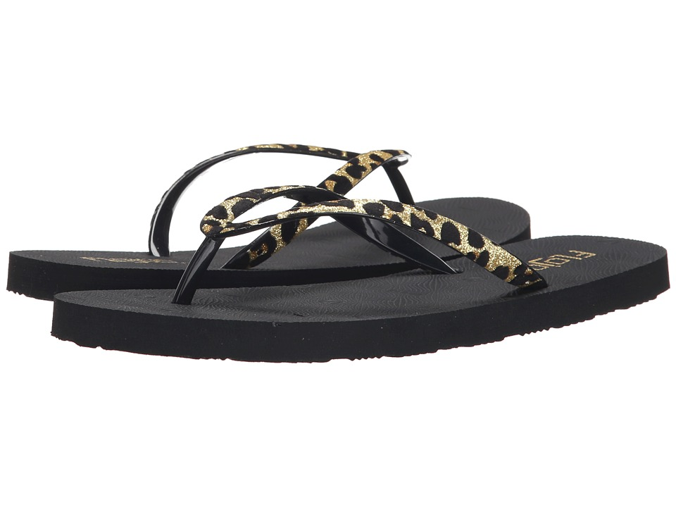 Flojos - Nicole (Gold/Black) Women's Sandals