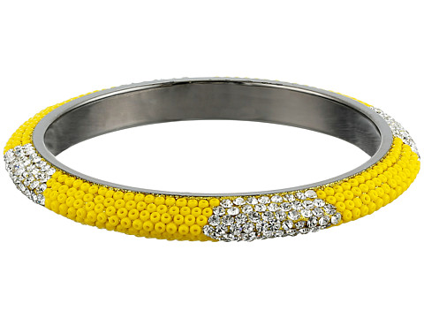 Gypsy SOULE - Bling Mix Stack Bangle - Wide (Yellow) Bracelet