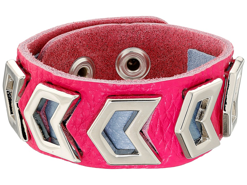Gypsy SOULE - Leather Arrow Cutout Bracelet (Pink) Bracelet