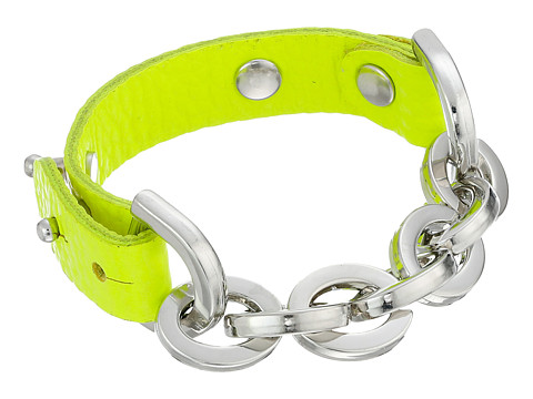 Gypsy SOULE - Leather Chain Bracelet (Neon Green) Bracelet