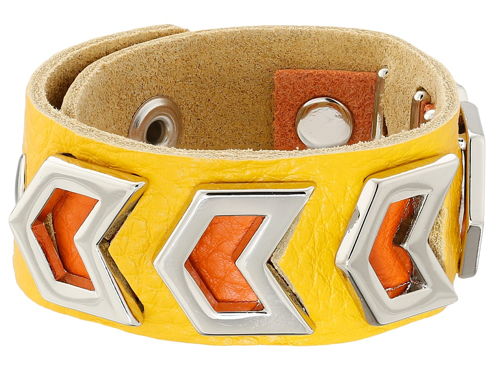 Gypsy SOULE - Leather Arrow Cutout Bracelet (Yellow) Bracelet