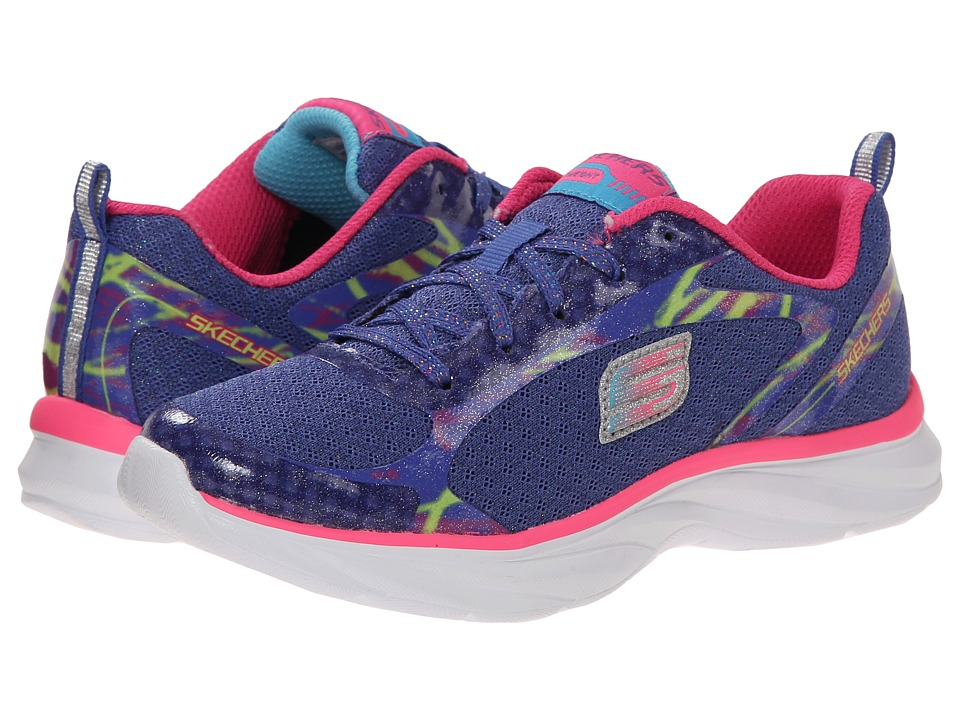 SKECHERS KIDS - Pepsters Rally Up (Little Kid/Big Kid) (Periwinkle/Multi) Girls Shoes