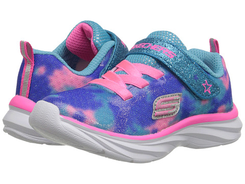 SKECHERS KIDS - Pepsters (Toddler) (Blue/Pink) Girls Shoes