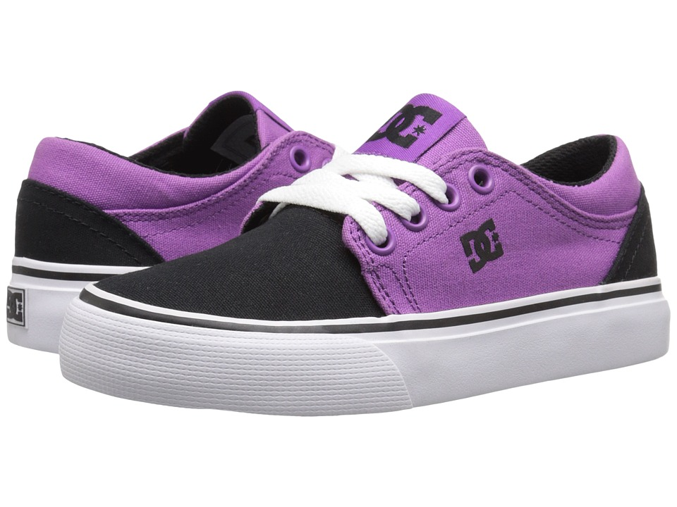 DC Kids - Trase TX (Little Kid) (Purple/White/Black) Girls Shoes