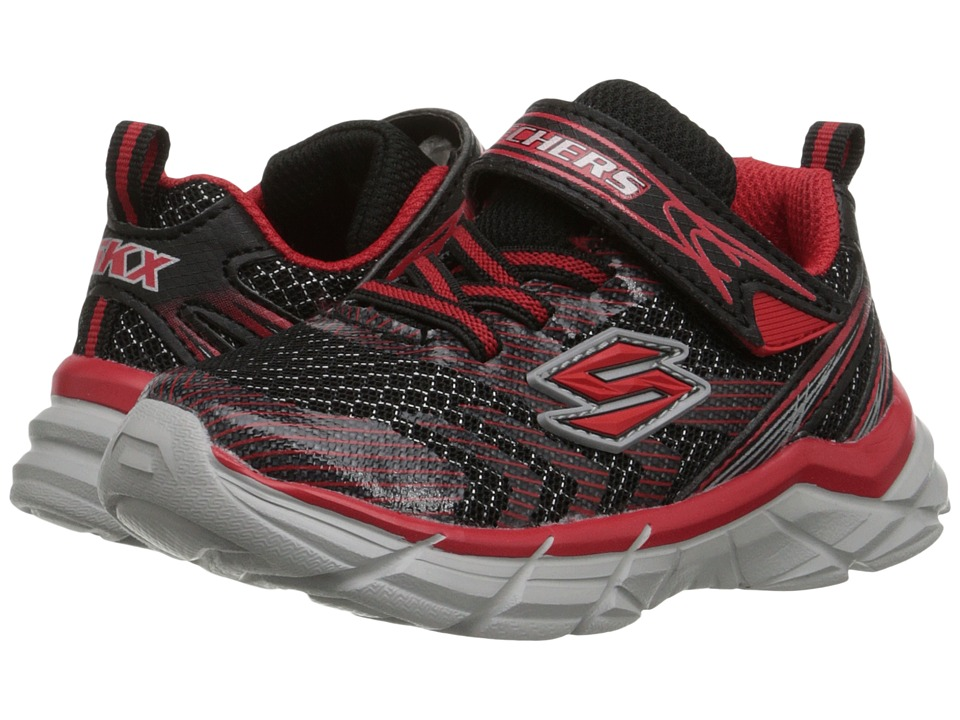 SKECHERS KIDS - Rive (Toddler) (Black/Red) Boys Shoes