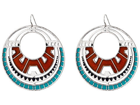 Gypsy SOULE - Southwest Oval Drop Earrings (Silver) Earring